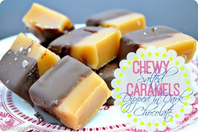Recipe for Chewy Salted Caramels Dipped in Dark Chocolate
