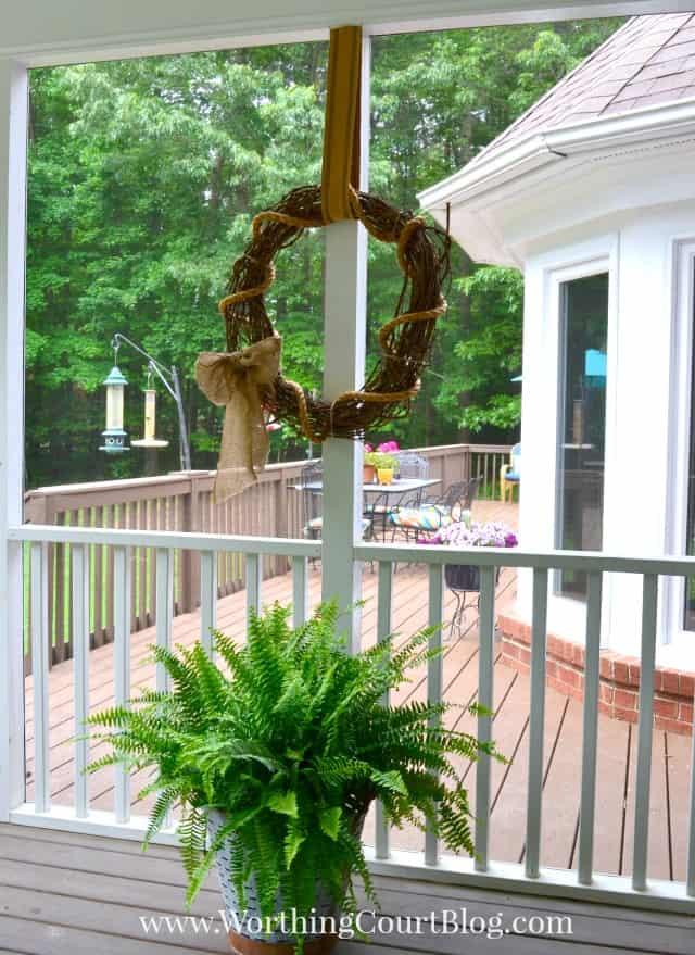 Rustic grapevine wreath