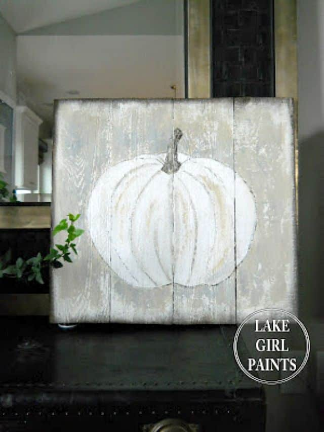 Rustic Wood Pumpkin Art