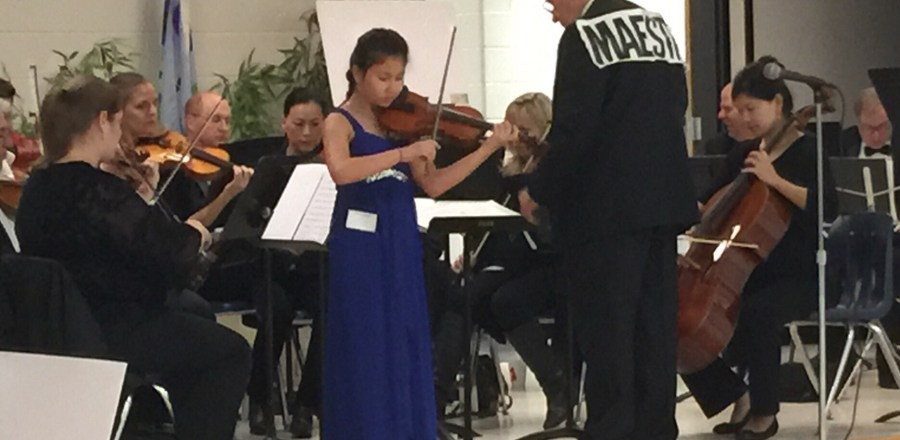 Danielle Najarian performed with Johns Creek Symphony Orchestra