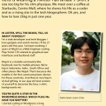 Lester Chan Interviewed By Singapore Magazine