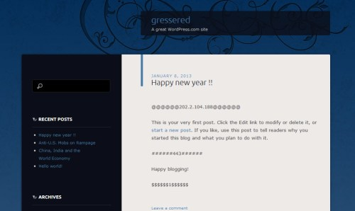 Gressered Website