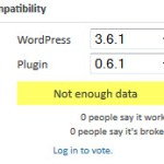 What Good Is Plugin Compatibility Data If Users Are Not Participating?
