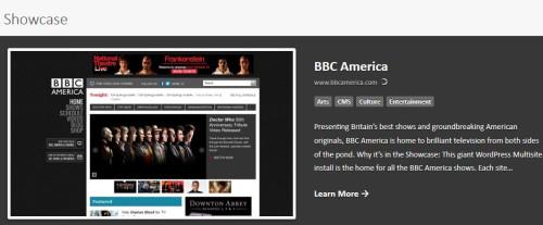 bbc on the WordPress showcase