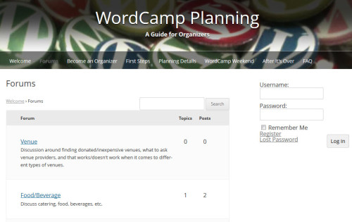 WordCamp Planning Forum