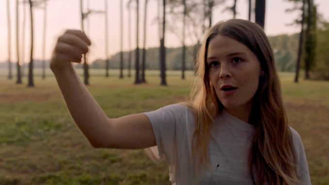 """Maggie Rogers in a scene from her new video for the song """"Alaska."""""""