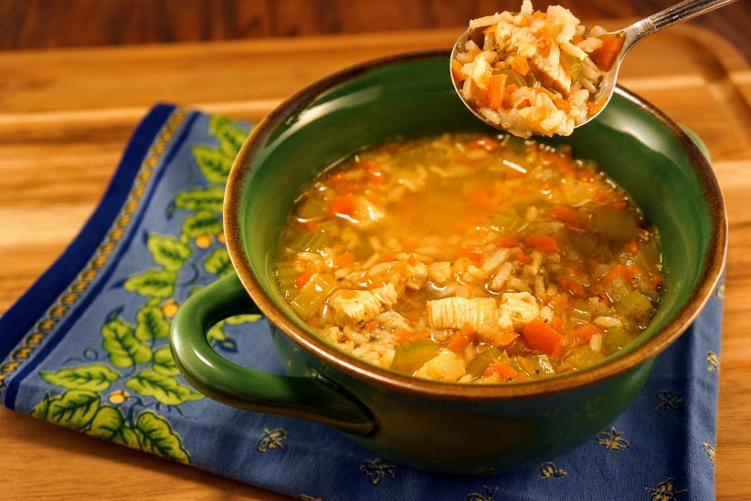 Spicy Chicken Rice Soup Spoonful