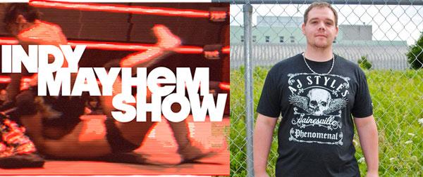 pro wrestling tees - indy mayhem show - jeremy meyer