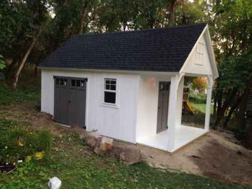 Medium Of Shed With Porch