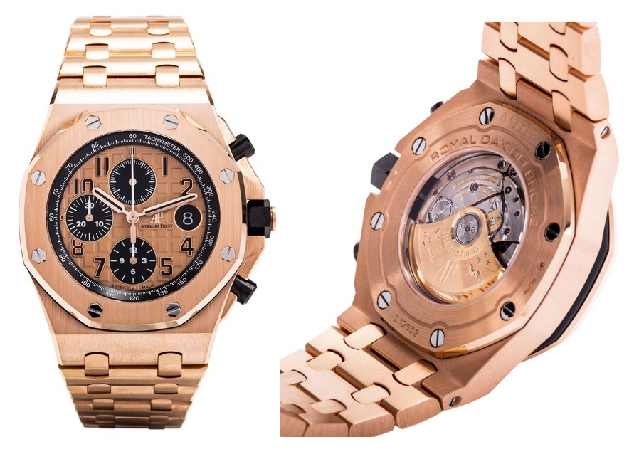 Audemars piguet royal oak offshore watches for Royal oak offshore rose gold 42mm