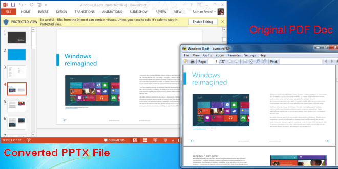 PDF Convert to PPTX