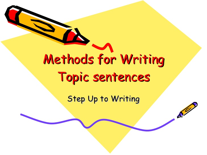 examples of topic sentences for essays