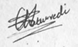 Signature suggesting self-hatred