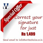 Now, you can correct your signature for just Rs 1,499 (or $30)