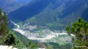 Uttarkashi city from the top at 8000 feet height