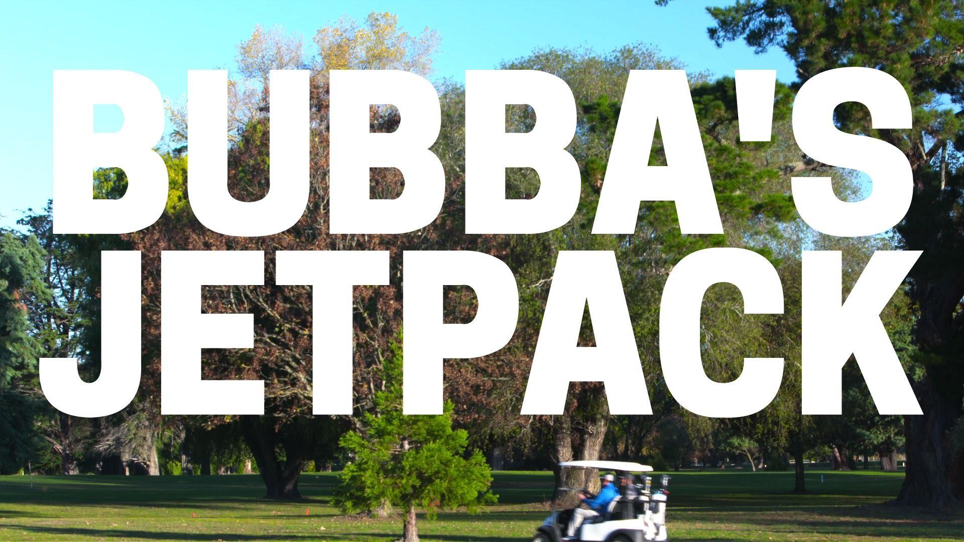 Opmerkelijk: Bubba's jetpack golfkar
