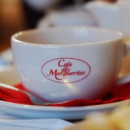 Teas and Coffees are a plenty at Cafe Des Marguerites.