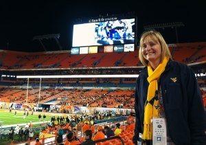 Here I am at the 2012 Orange Bowl, when WVU crushed Clemson, 70-33
