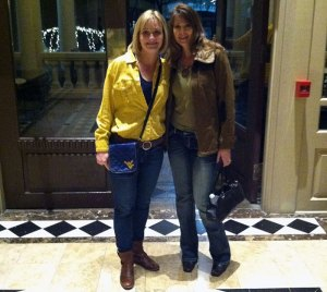 Jill and I at the entrance of the Driskell Hotel
