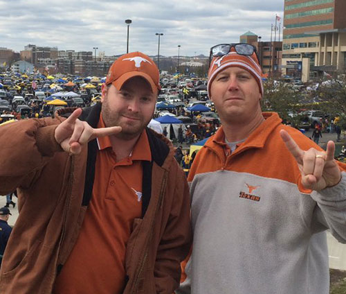 Texas fans at WVU tailgate