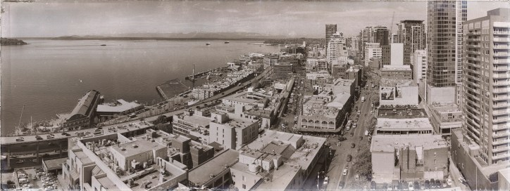 Pikes Market Pano - old timey