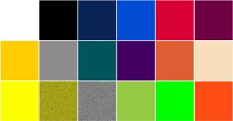 Carta de colores vinilo textil