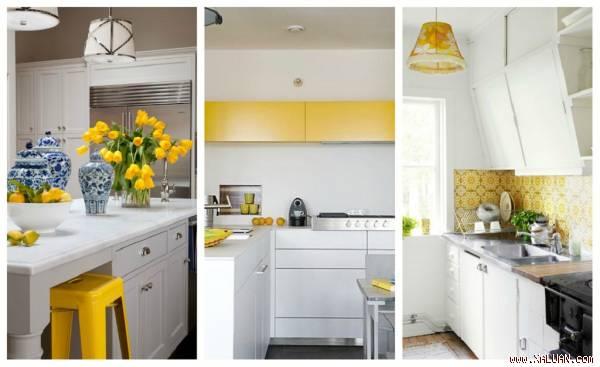 Có đa dạng kiểu cách khác nhau để bạn đem sắc vàng chanh đến căn bếp của gia đình.