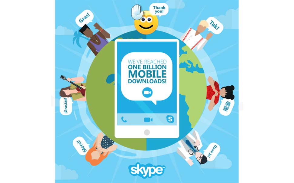 Applications Skype: un milliard de téléchargements.