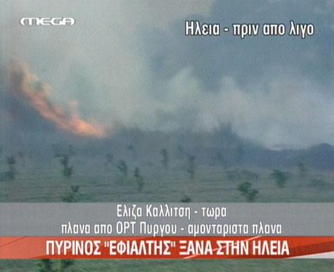 Φωτιά στην Ηλεία 2008