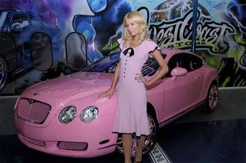 Paris Hilton pink Bentley Continental GT - 2