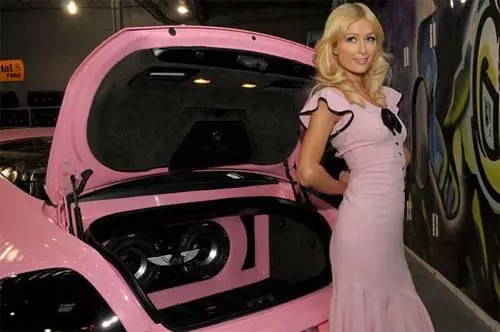 Paris Hilton pink Bentley Continental GT - 4