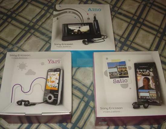 Sony Ericsson Aino, Satio, Yari