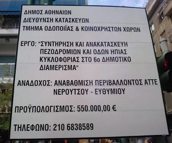 Προϋπολογισμός 550.000 ευρώ