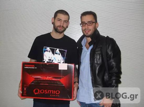 Ο μεγάλος τυχερός παρέλαβε το laptop Toshiba Qosmio X500-12N!