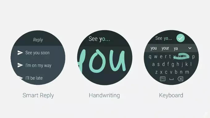 Android Wear 2.0 writing