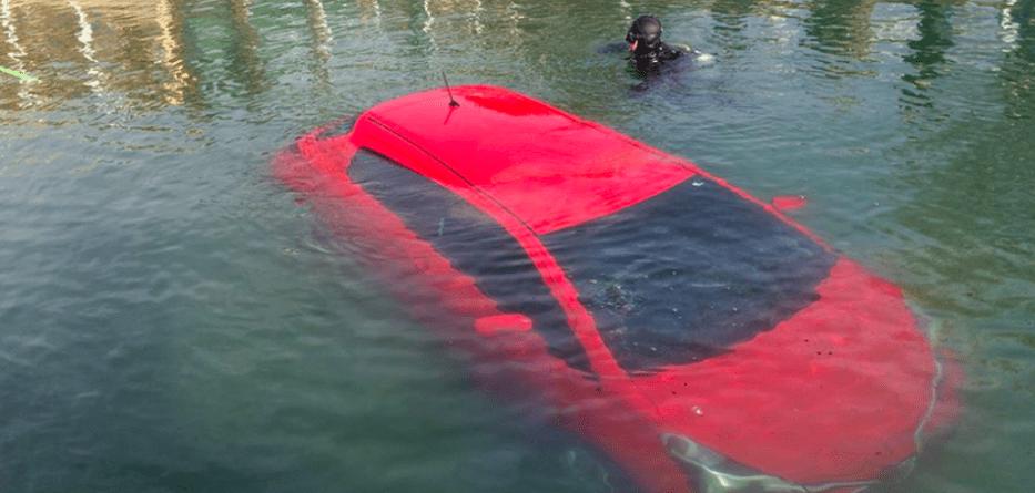 GPS car lake fail