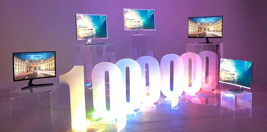 Samsung Monitors 1 million sales