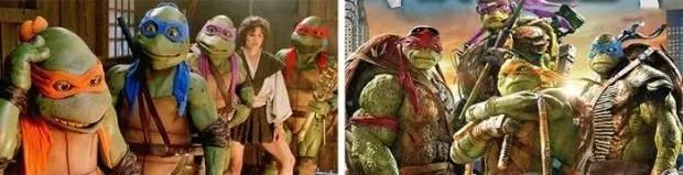 Teenage Mutant Ninja Turtles 1990 and 2016