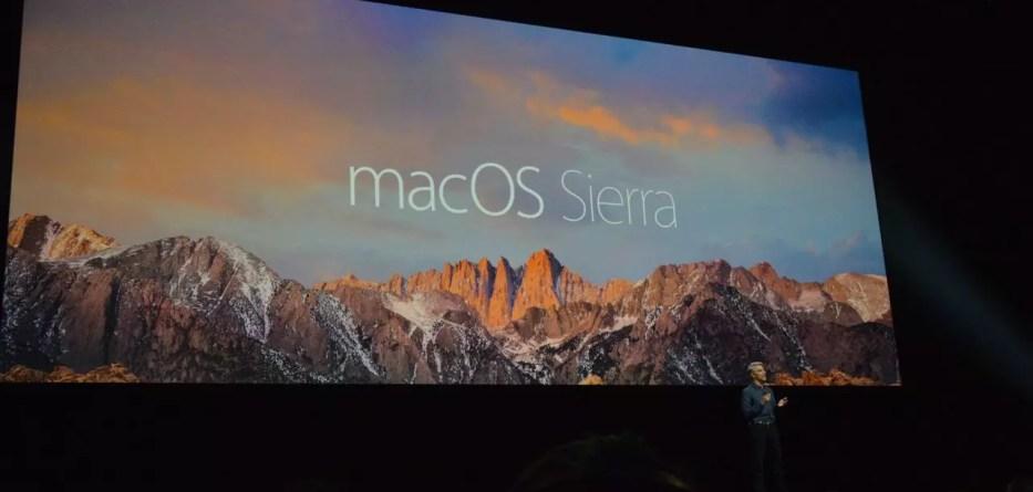 macOS Sierra WWDC