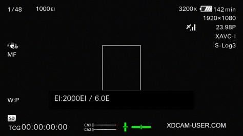 FS7-EI-indication-2-1024x576 Ultimate Guide for Cine EI on the Sony PXW-FS7