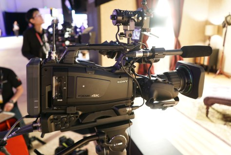 The new Sony PXW-Z450  UHD ENG shoulder camcorder.