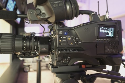 The PXW-Z450, looks just like any other ENG shoulder camera.