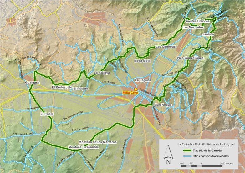 Mapa base de La Cañada de La Laguna