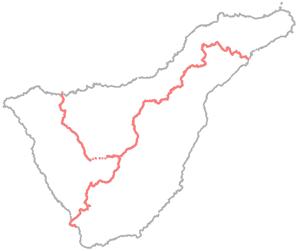 Caminos estructurantes de Tenerife - Croquis GR-131 - Amigos de La Cañada
