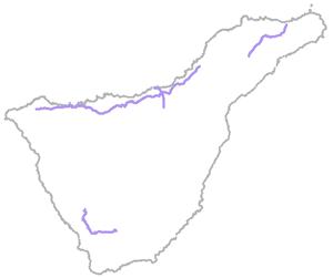 Caminos estructurantes de Tenerife - Croquis Caminos Reales - Amigos de La Cañada