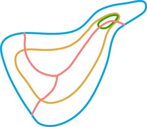 """La estructura básica consta de la """"Y"""", de dos grandes anillos (litoral y medianías) y de otro pequeño, La Cañada Verde"""