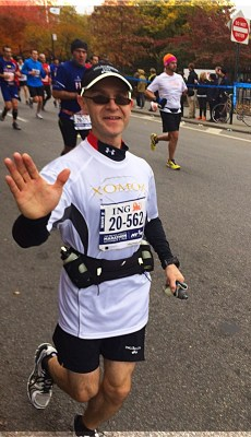 Piotr running 2013 ING NYC Marathon