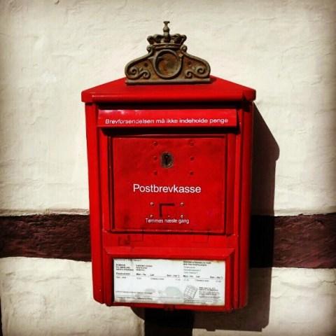 Old mailbox Odense Denmark