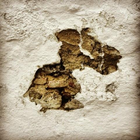 Church wall decay