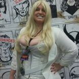Having the wall up at our booth meant we got a ton of rad photos at the con as well as the party. Here's Administratrix Emeritus Tina as Emma Frost!